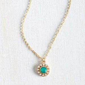 🍀3/$30 Modcloth retro vintage mint Necklace